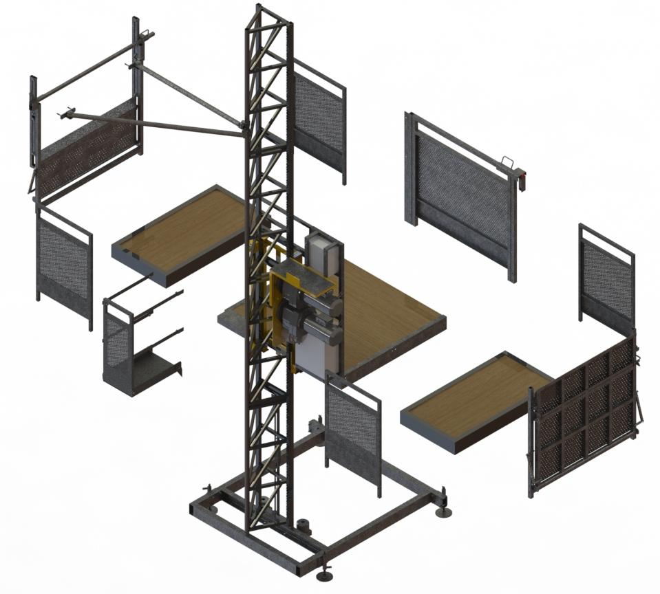 PH10-15 modular con KIT para obtener un cesta mas ancha con la misma maquina base