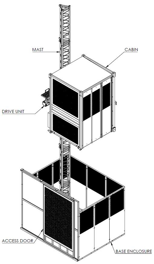 ascensor de obra E05